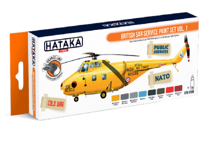 Hataka British SAR Service Paint Set Vol.1 (Lacquer)